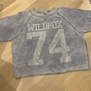 Wildfox Gray Faded 74 Cotton Jersey